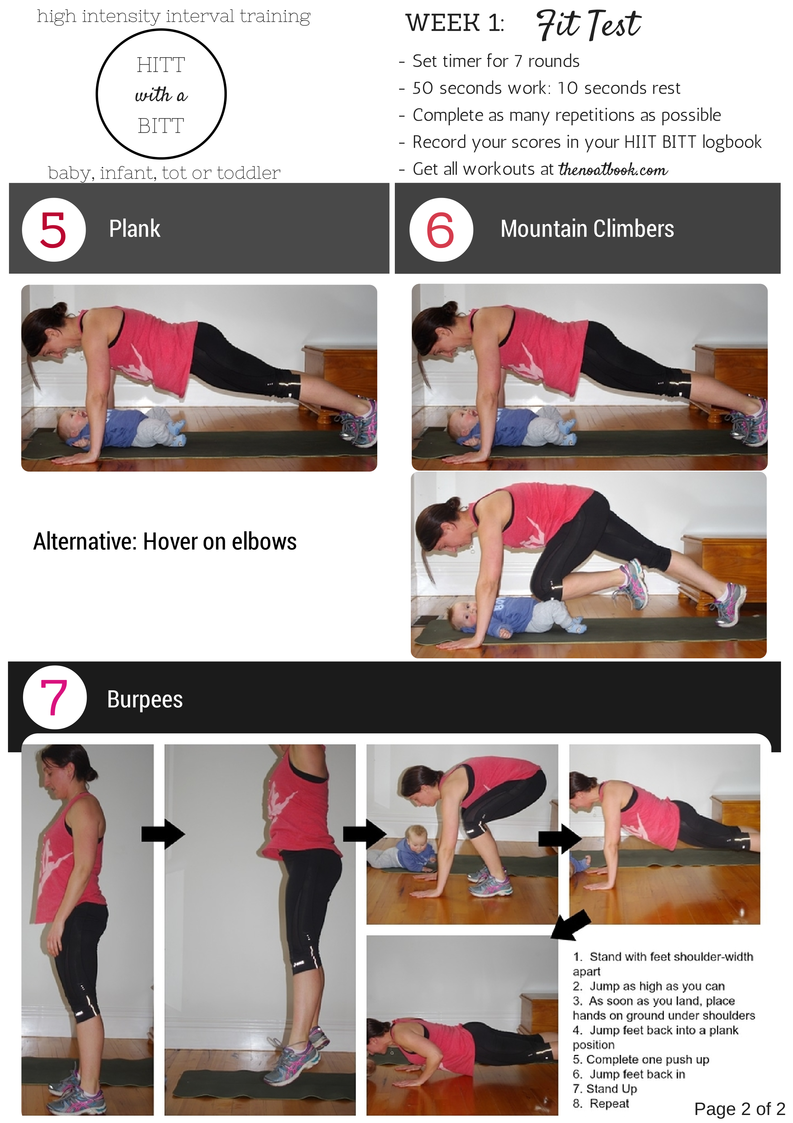 Working out with your baby Week One HIIT with a BIIT photos