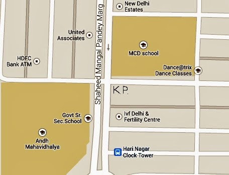 Location of Kumar Properties, Hari Nagar, West Delhi, zoomed in