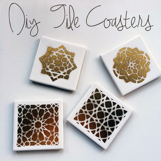 Kristina Does The Internets Diy Moroccan Tile Coasters