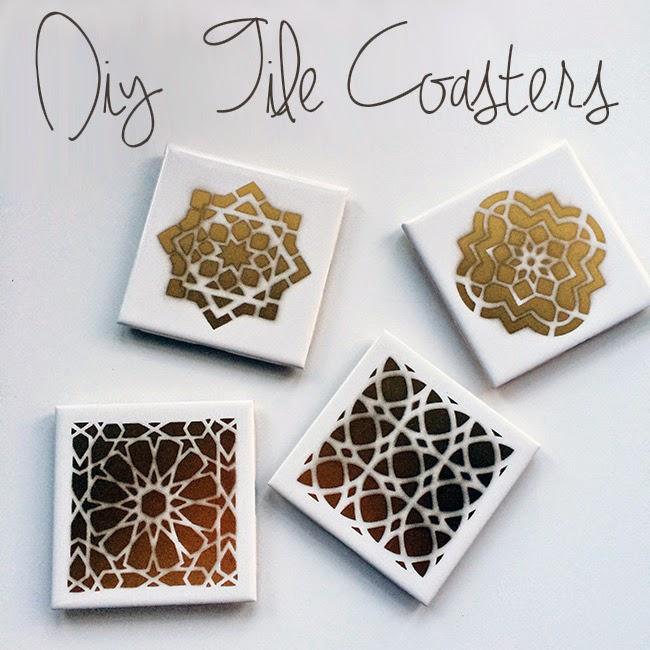 Diy Moroccan Tile Coasters