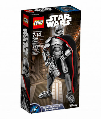 TOYS : JUGUETES - LEGO Star Wars VII  75118 Captain Phasma : Figura | Buildable Figures  El Despertar de la Fuerza - The Force Awakens | Disney  Producto Oficial Pelicula 2015 | Piezas: 82 | Edad: 7-14 años  Comprar en Amazon España & buy Amazon USA
