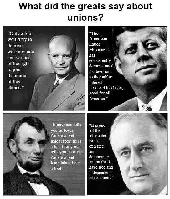 What the Greats Said About Unions
