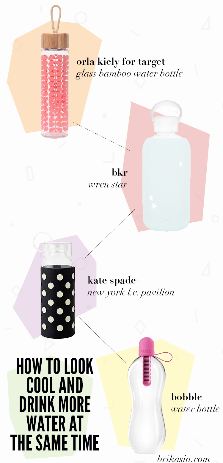 cool water bottles, best eco conscious water bottles, how to drink more water, pretty water bottles, fashionable water bottles, bkr, glass water bottles