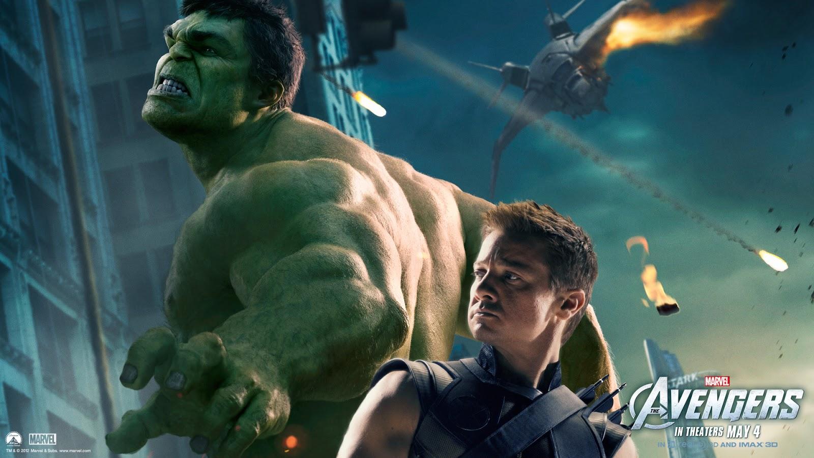 the avengers 2012 hawkeye and hulk mystery wallpaper