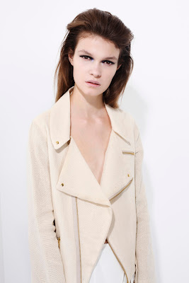 Jacket, light cream and white
