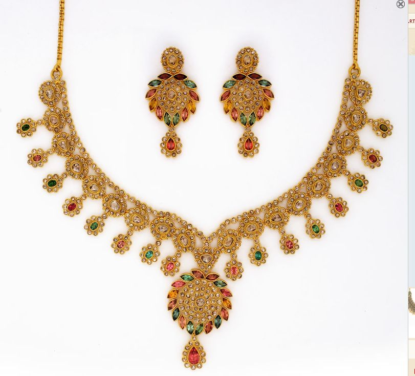 Jewellery Designs : Collection of Designer Gold Neck Pieces