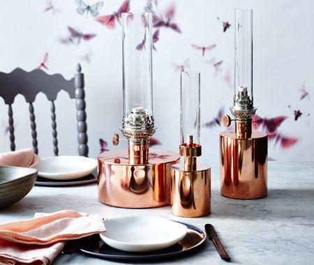 Thanksgiving in copper lanterns
