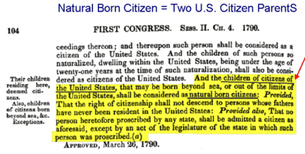 Natural Born Citizen =