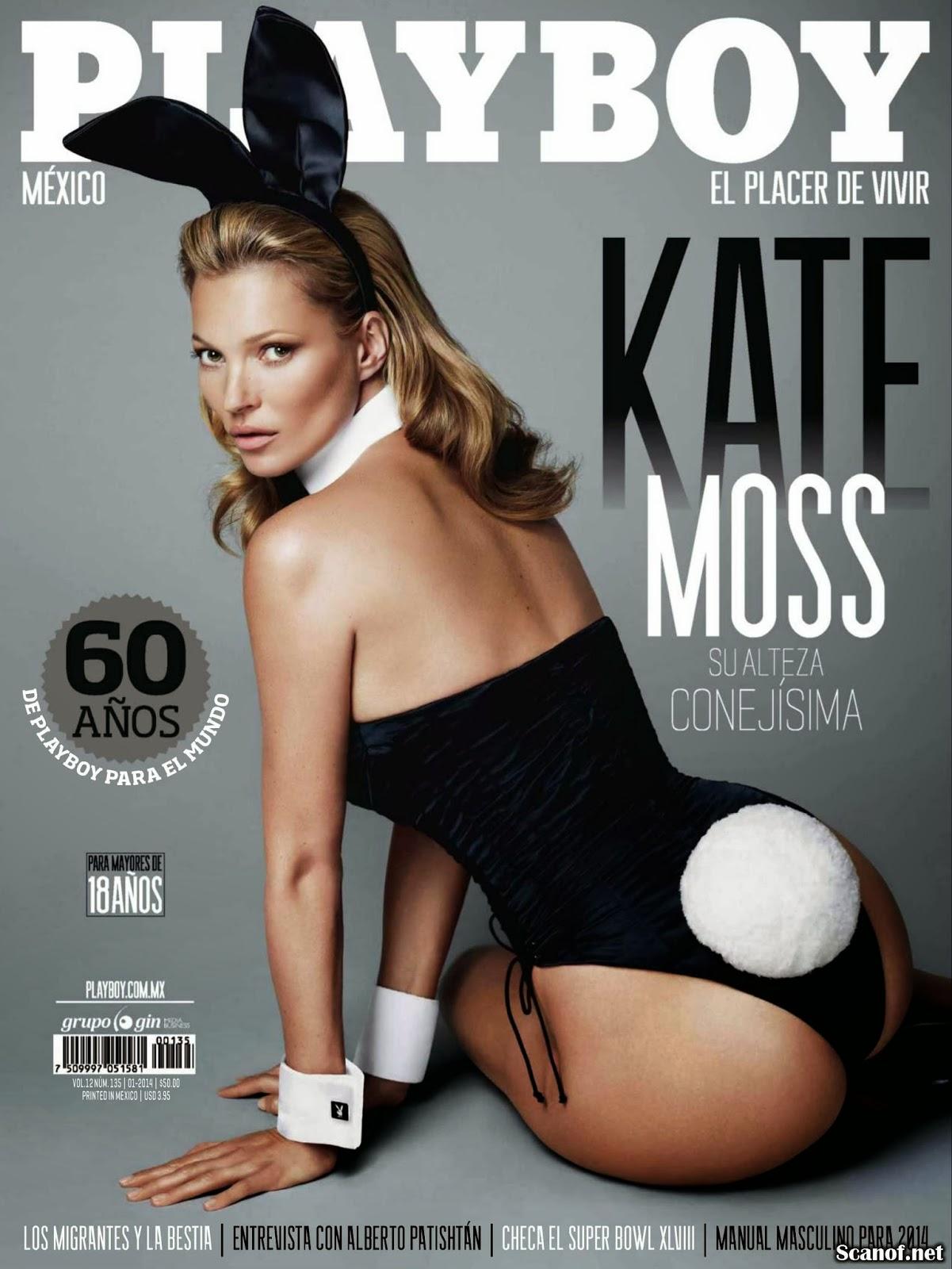 Imagenes de la Super Modelo Inglesa Kate Moss Revista Playboy Mes de ...