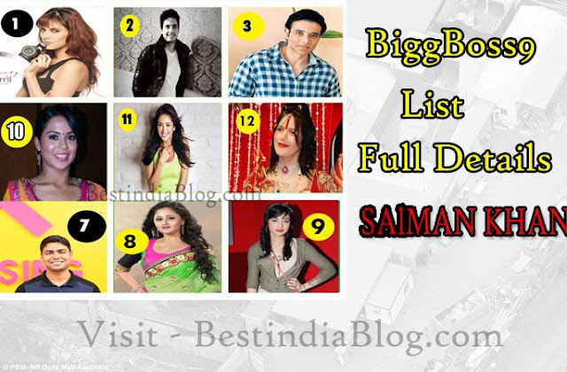 biggboss9 contenstans names photos, biggboss9 house