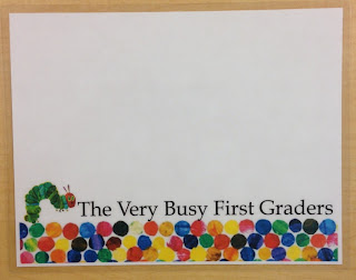Caterpillar with dots. The Very Busy First Graders.