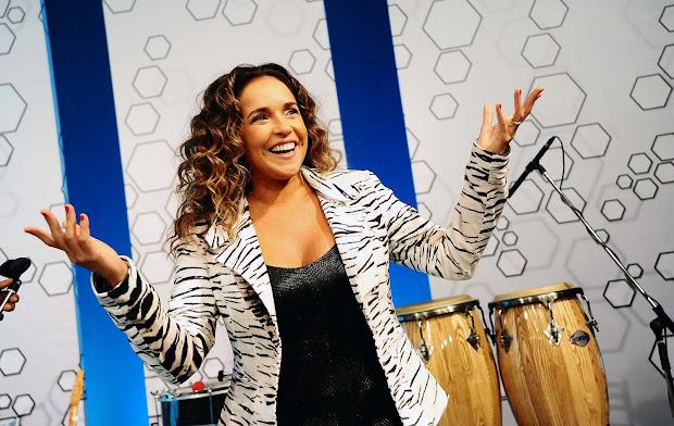Daniela Mercury foi uma das convidadas especiais do 'Bem, Amigos!' da SporTV (Foto: Marcos Ribolli)