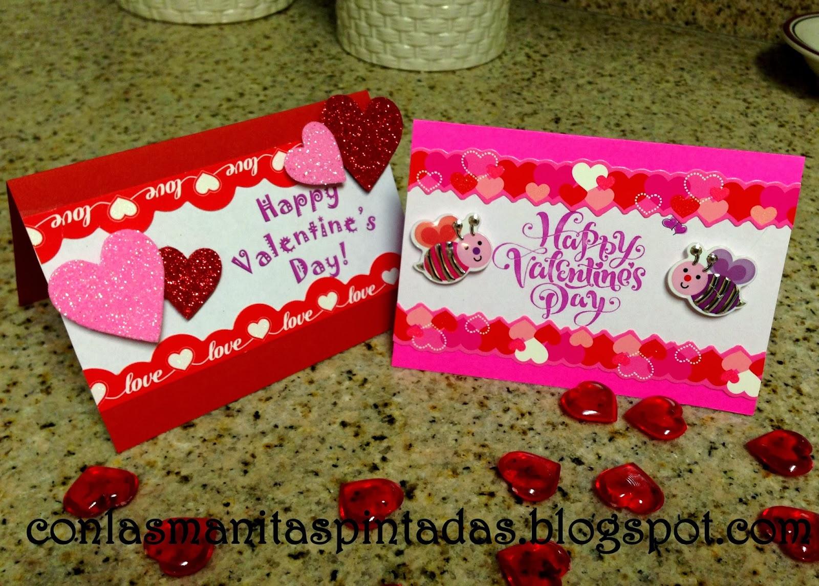 Con las manitas pintadas como hacer tarjetas para san - Postales dia de san valentin ...
