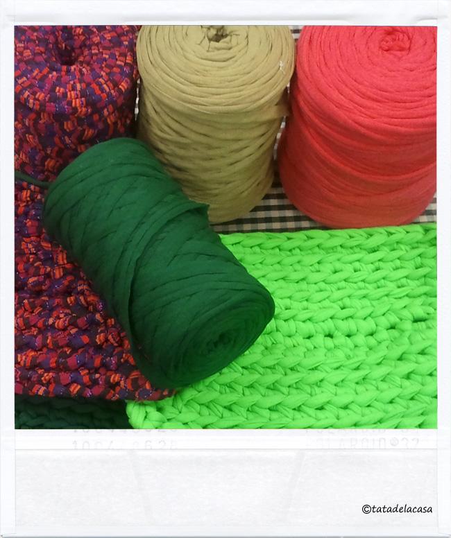 Tatadelacasa alfombras de trapillo for Alfombra redonda verde