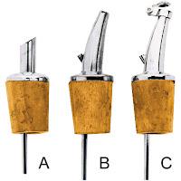 Picurator cu dop - realizat din otel inoxidabil, model scurt - tip A, 6 bucati in cutie, model lung  - tip B, 6 bucati in cutie, model lung cu supapa - tip C, 6 bucati in cutie