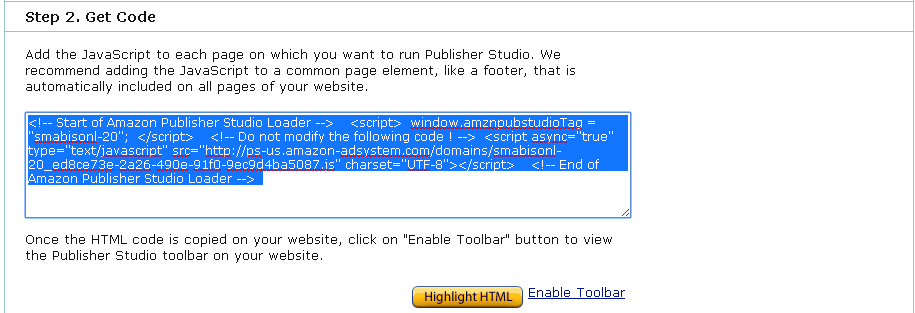 Kode Amazon Publisher Studio