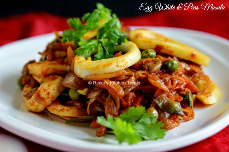 egg and peas cooked with spices is a delicious side dish with indian ...