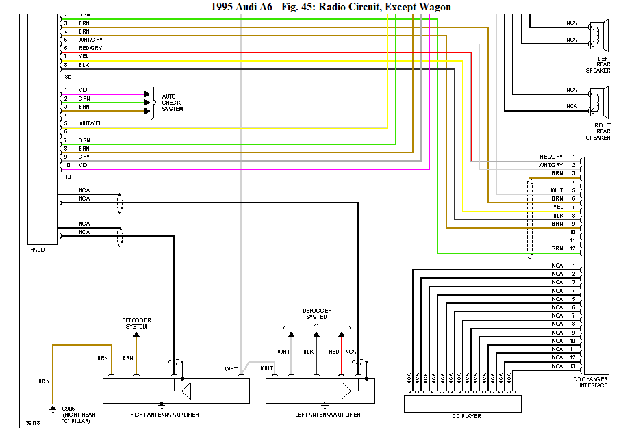Download Free: 1995 Audi A6 System Diagram | Audi A6 Wiring Diagrams Free |  | blogger