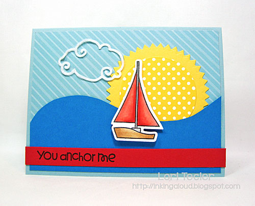 You Anchor Me card-designed by Lori Tecler/Inking Aloud-stamps from Paper Smooches