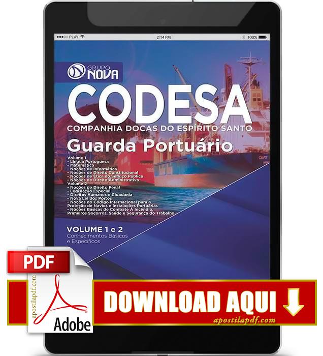 Apostila CODESA 2015 PDF Download Guarda Portuário