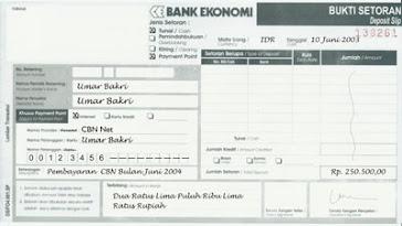 nrb { nomor rekening bank }