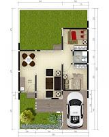 denah rumah type 50