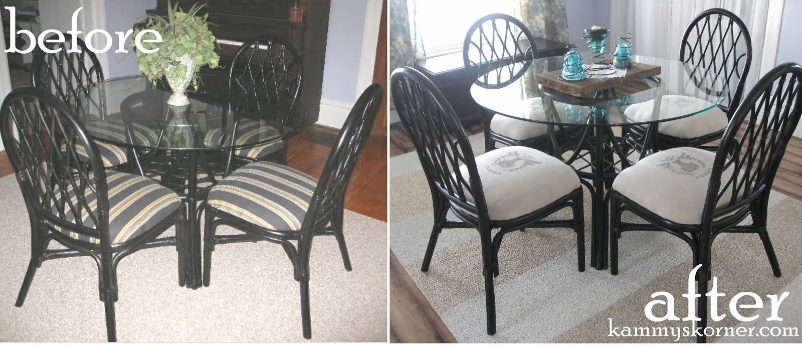 Kammys Korner Rattan Dining Chairs Makeover