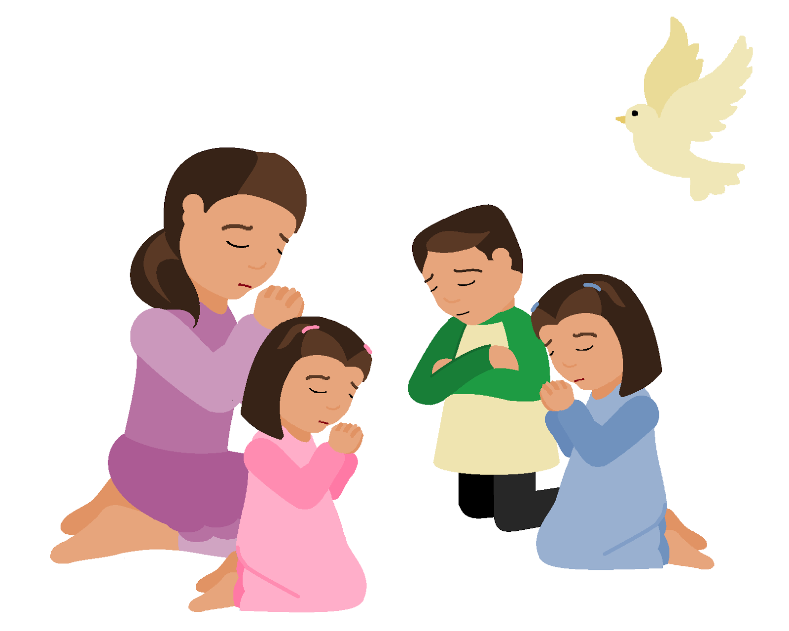 children praying clipart - photo #5