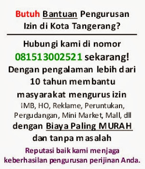 Jasa Perijinan Tangerang