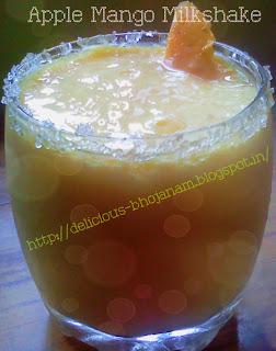 Apple Mango Milkshake