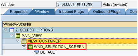 Select Options in Web Dynpro