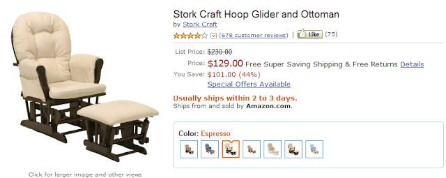 Stork craft hoop glider and ottoman coupon stork craft for Stork craft hoop glider and ottoman set