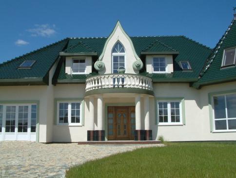 Elewacja do zielonego dachu