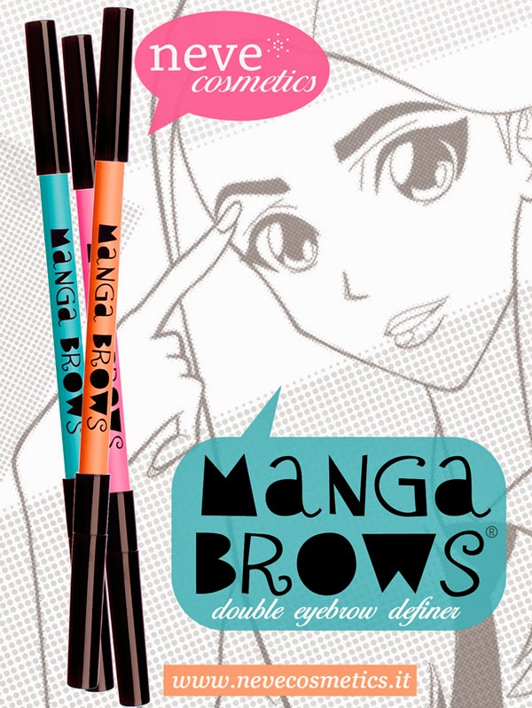 matite sopracciglia nevecosmetics manga brows
