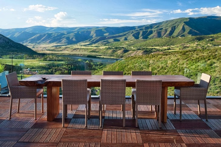 Terrace view from Modern mountain house in Aspen, Colorado