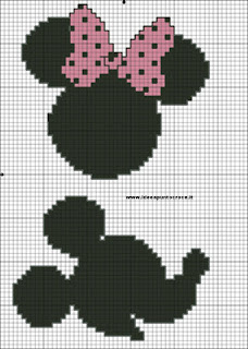 Topolina Disney -cross stich