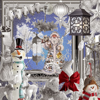 KIT SILVER CHRISTMAS( NEW )    -    FREEBIE