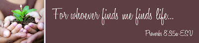 For whoever finds me finds life... Proverbs 8:35a ESV