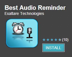 Audio Reminder for android smartphone