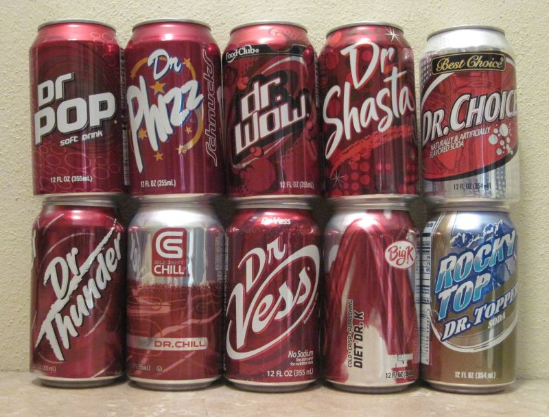 dr Thunder vs dr Pepper Bottom Row dr Thunder