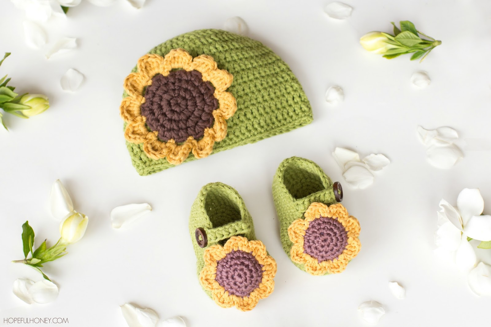 Free crochet pattern for sunflower hat dancox for hopeful honey craft crochet create sunflower baby hat free crochet pattern bankloansurffo Image collections