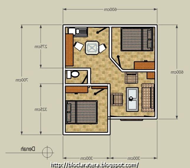 denah desain rumah minimalis type 70 terbaru properti