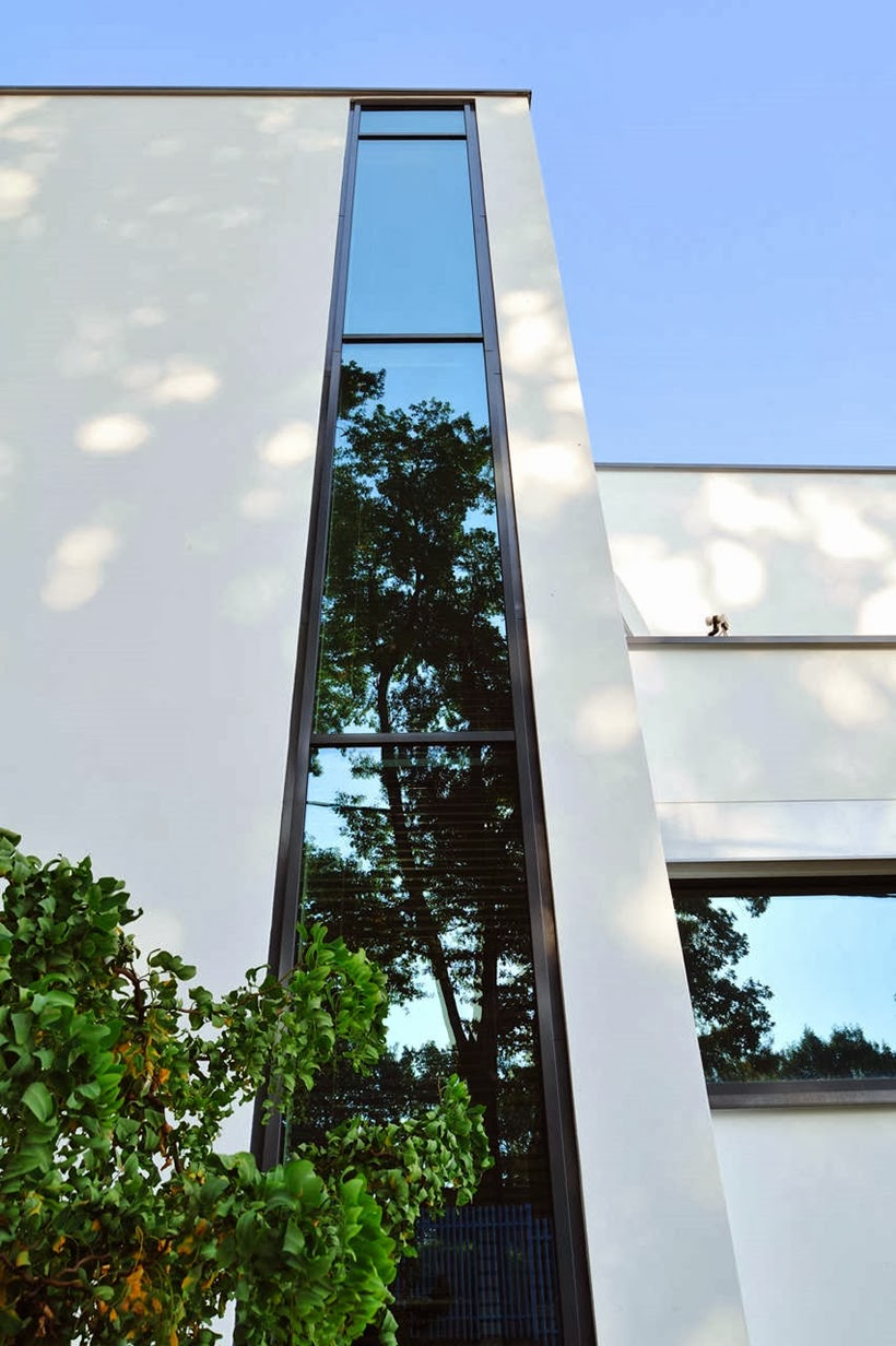 Window on Modern home in Krakow, Poland