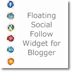 Floating Social Follow Widget for Blogger