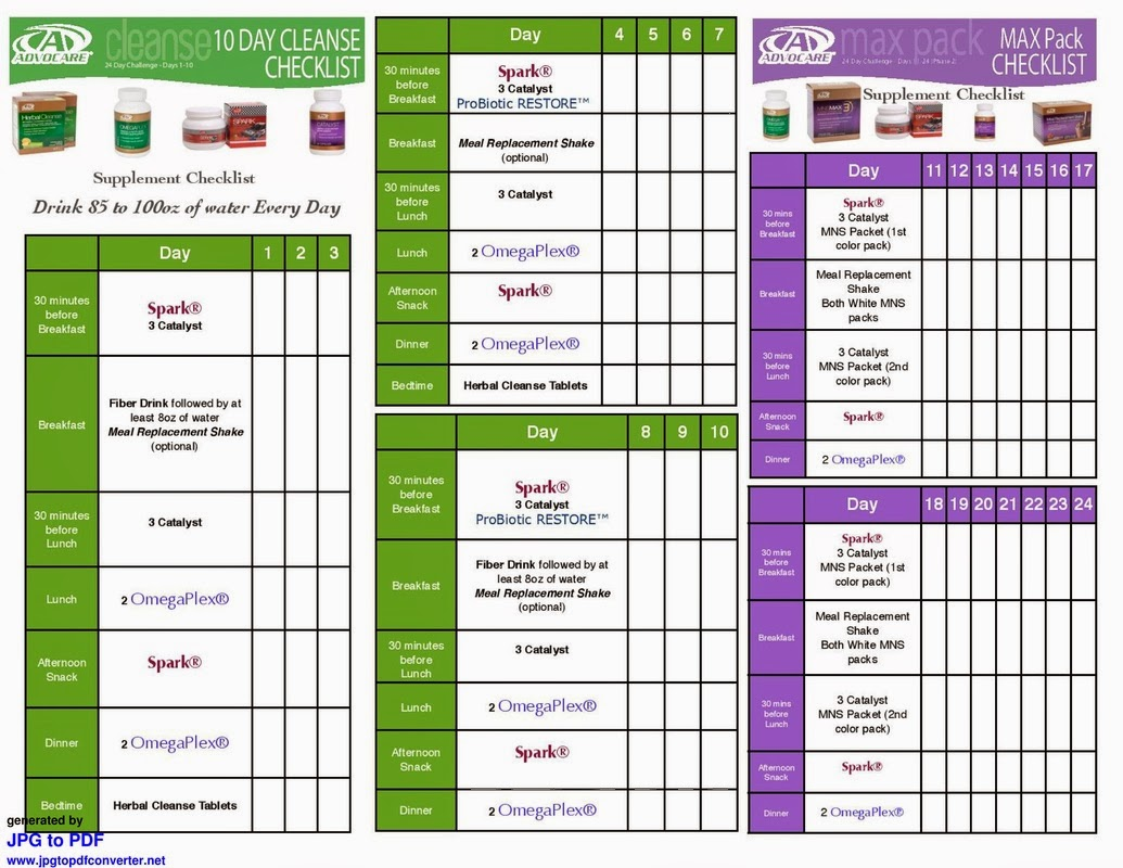 Pics For Gt Advocare 24 Day Challenge Guide