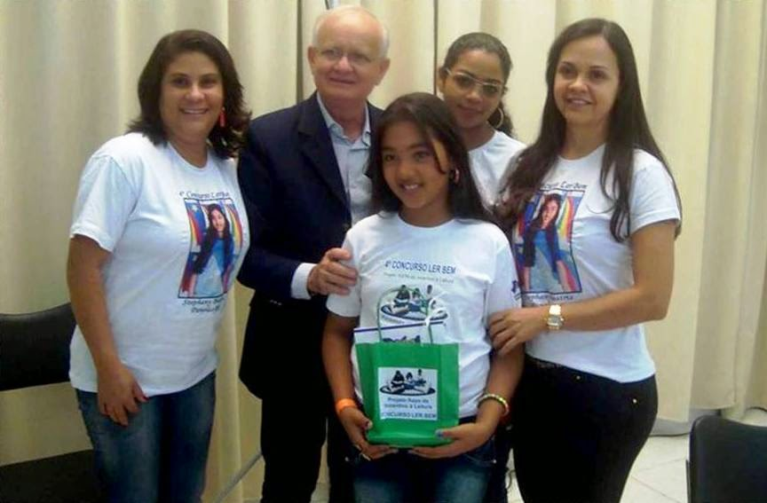 Equipe acompanhante,  Estephany Beatriz e diretor da ASPA Sebastião Rodrigues.