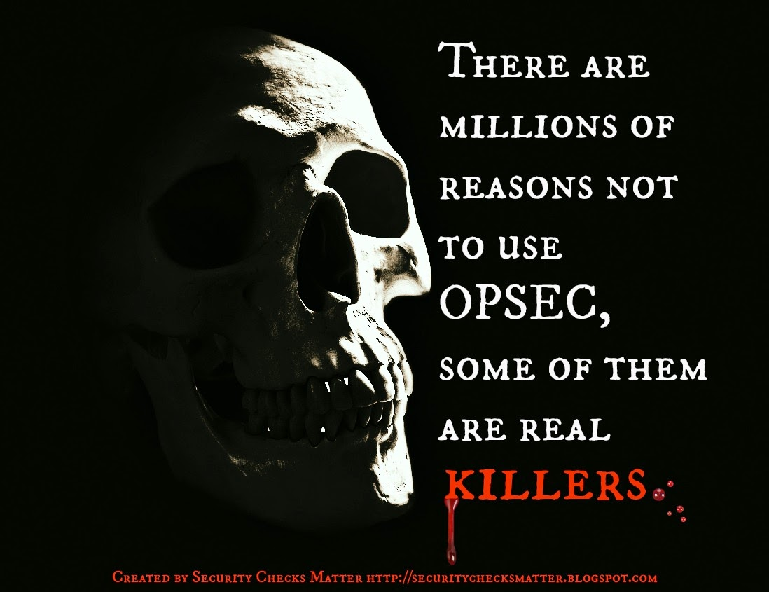 Halloween skull OPSEC security poster security checks matter