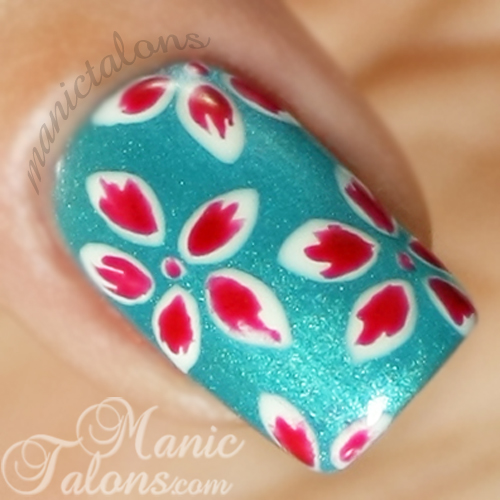 Tropical Flowers Nail art, Gel Polish