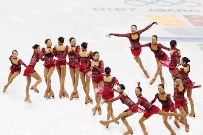 Putaran badan (ω) dari pemain es skating ini bertambah cepat saat ia merapatkan kedua tangannya ke arah badan.