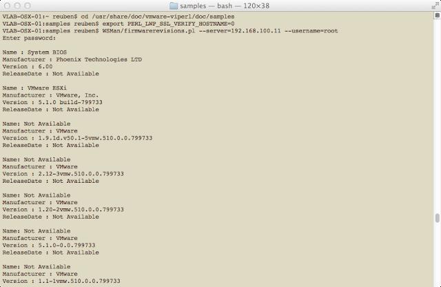 Validate vSphere Perl SDK WSMan
